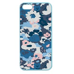 Fabric Wildflower Bluebird Apple Seamless Iphone 5 Case (color)