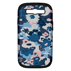 Fabric Wildflower Bluebird Samsung Galaxy S III Hardshell Case (PC+Silicone)