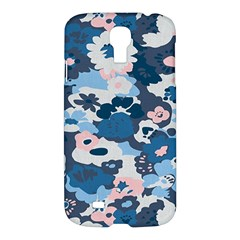 Fabric Wildflower Bluebird Samsung Galaxy S4 I9500/I9505 Hardshell Case