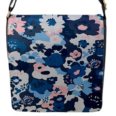 Fabric Wildflower Bluebird Flap Messenger Bag (S)