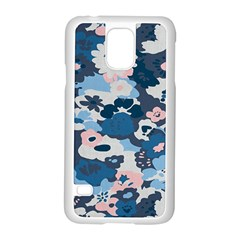 Fabric Wildflower Bluebird Samsung Galaxy S5 Case (White)
