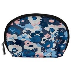 Fabric Wildflower Bluebird Accessory Pouches (Large)