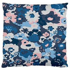 Fabric Wildflower Bluebird Large Flano Cushion Case (One Side)