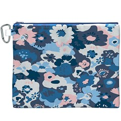 Fabric Wildflower Bluebird Canvas Cosmetic Bag (XXXL)
