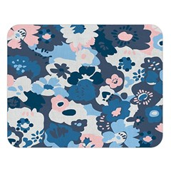 Fabric Wildflower Bluebird Double Sided Flano Blanket (Large)