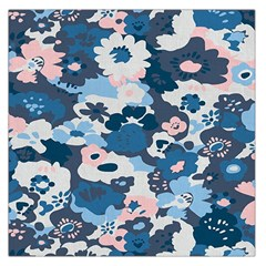 Fabric Wildflower Bluebird Large Satin Scarf (square)