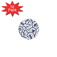 Fish Pattern 1  Mini Buttons (10 pack)