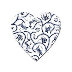 Fish Pattern Heart Magnet
