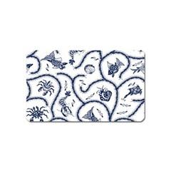 Fish Pattern Magnet (name Card)