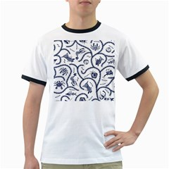 Fish Pattern Ringer T-Shirts