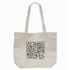 Fish Pattern Tote Bag (cream)