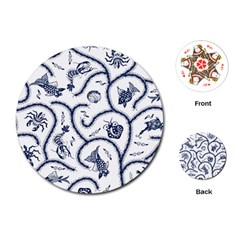 Fish Pattern Playing Cards (round)