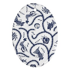 Fish Pattern Oval Ornament (Two Sides)