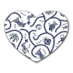 Fish Pattern Heart Mousepads