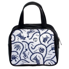 Fish Pattern Classic Handbags (2 Sides)