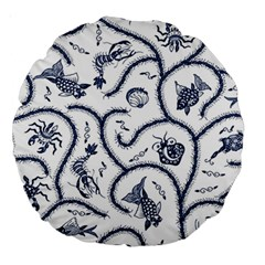 Fish Pattern Large 18  Premium Round Cushions