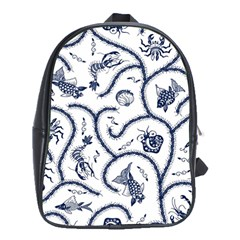 Fish Pattern School Bags (xl)
