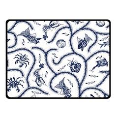 Fish Pattern Double Sided Fleece Blanket (small)