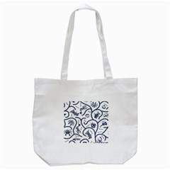 Fish Pattern Tote Bag (White)