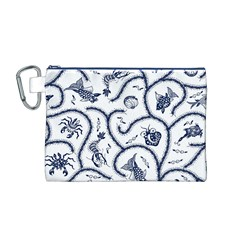 Fish Pattern Canvas Cosmetic Bag (M)