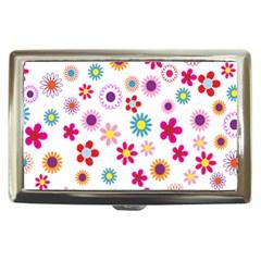 Colorful Floral Flowers Pattern Cigarette Money Cases