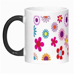 Colorful Floral Flowers Pattern Morph Mugs
