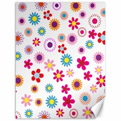 Colorful Floral Flowers Pattern Canvas 12  x 16