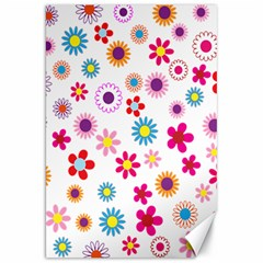 Colorful Floral Flowers Pattern Canvas 20  X 30