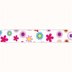 Colorful Floral Flowers Pattern Small Bar Mats