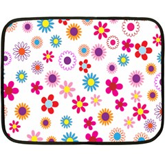 Colorful Floral Flowers Pattern Double Sided Fleece Blanket (mini)