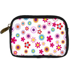 Colorful Floral Flowers Pattern Digital Camera Cases