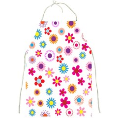 Colorful Floral Flowers Pattern Full Print Aprons