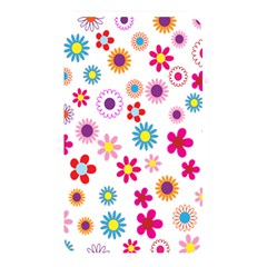 Colorful Floral Flowers Pattern Memory Card Reader