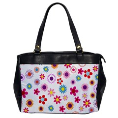 Colorful Floral Flowers Pattern Office Handbags