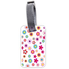Colorful Floral Flowers Pattern Luggage Tags (Two Sides)