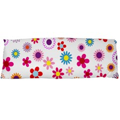 Colorful Floral Flowers Pattern Body Pillow Case Dakimakura (Two Sides)
