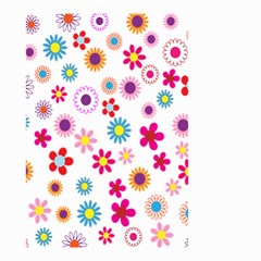 Colorful Floral Flowers Pattern Small Garden Flag (two Sides)