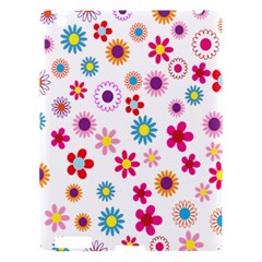 Colorful Floral Flowers Pattern Apple iPad 3/4 Hardshell Case