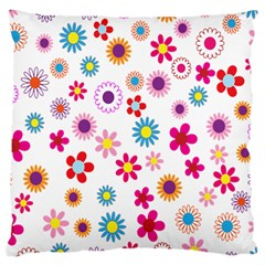 Colorful Floral Flowers Pattern Large Cushion Case (One Side)