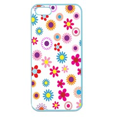 Colorful Floral Flowers Pattern Apple Seamless iPhone 5 Case (Color)