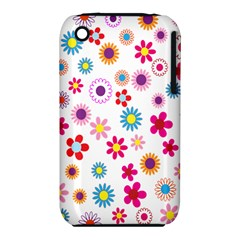 Colorful Floral Flowers Pattern iPhone 3S/3GS