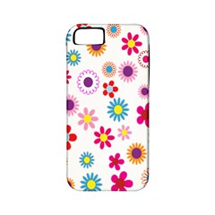 Colorful Floral Flowers Pattern Apple iPhone 5 Classic Hardshell Case (PC+Silicone)