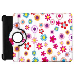 Colorful Floral Flowers Pattern Kindle Fire HD 7