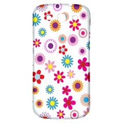 Colorful Floral Flowers Pattern Samsung Galaxy S3 S III Classic Hardshell Back Case