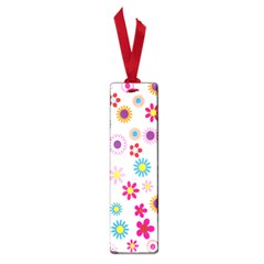 Colorful Floral Flowers Pattern Small Book Marks