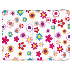 Colorful Floral Flowers Pattern Samsung Galaxy Tab 7  P1000 Flip Case