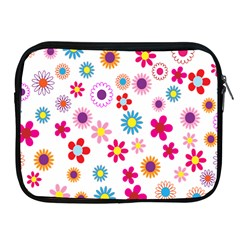 Colorful Floral Flowers Pattern Apple Ipad 2/3/4 Zipper Cases