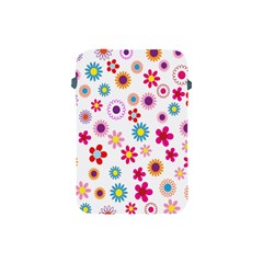 Colorful Floral Flowers Pattern Apple iPad Mini Protective Soft Cases