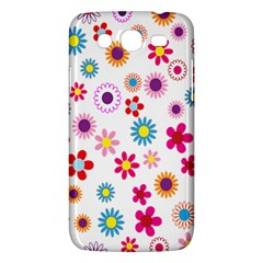 Colorful Floral Flowers Pattern Samsung Galaxy Mega 5.8 I9152 Hardshell Case