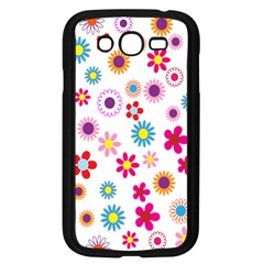 Colorful Floral Flowers Pattern Samsung Galaxy Grand DUOS I9082 Case (Black)